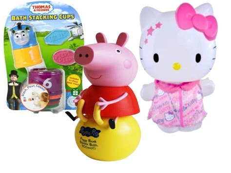 Girls Kitty And Toms On - bath stacking cups and bath bubbles kit hello kitty peppa