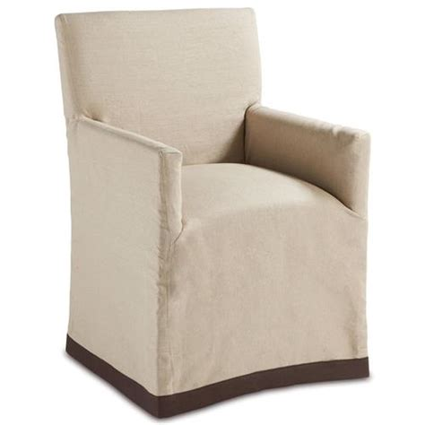 terry modern classic linen slipcover dining arm
