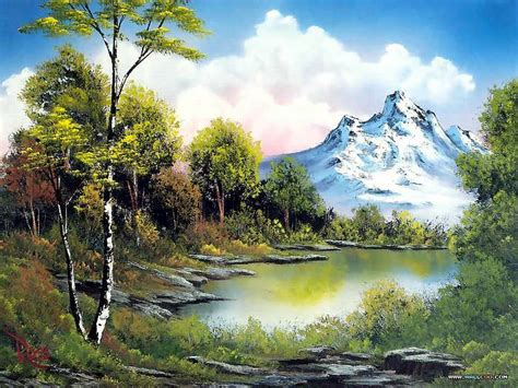 bob ross painting easiest easy landscape to paint peaceful landscape paintings by