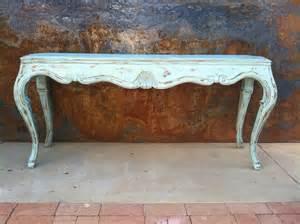 distressed sofa table rustysaturday distressed aqua sofa table