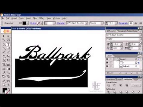 script lettering tutorial illustrator using ballpark script in adobe illustrator youtube
