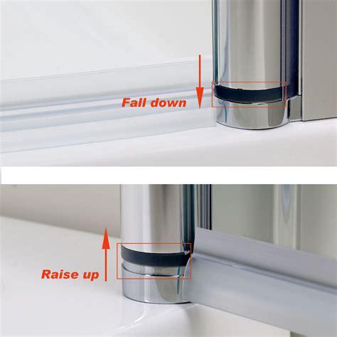 Shower Door Hinge Seal 700 760 800 900mm Frameless Pivot Shower Doors Hinge Screen Tray Waste Ebay