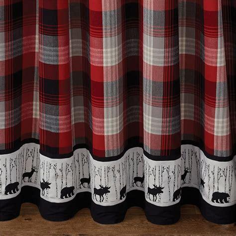 "Champlain Deer Moose Bear Bordered Shower Curtain 72"" x 72"""