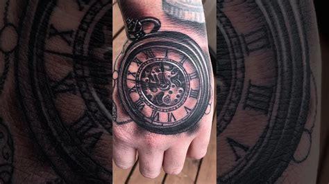 hand tattoo youtube pocket watch hand tattoo youtube