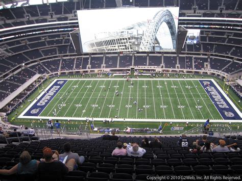 dallas cowboys stadium sections at t stadium section 412 dallas cowboys rateyourseats com