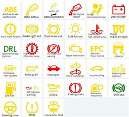 Vw Golf Brake System Warning Light What Are The Meanings Of The Dashboard Symbols And Warning