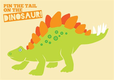 pin the tail on the dinosaur dino mite party by