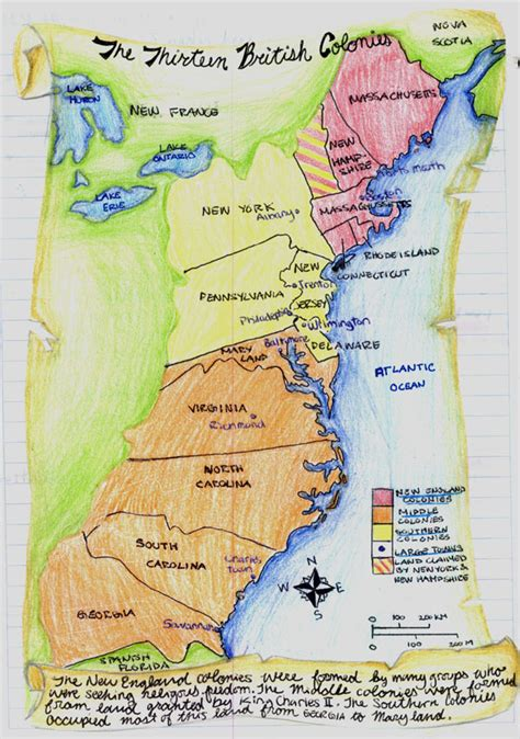 13 Colonies Sections by 13 Colonies Map With Cities Pictures To Pin On