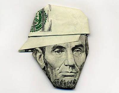 Money Hat Origami - folding money make something mondays