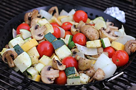 vegetables on the grill grilled vegetables