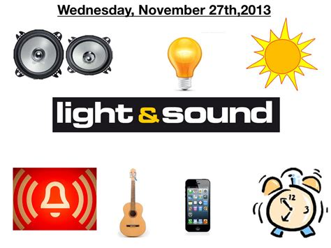 lights and sounds s grade 4 light and sound