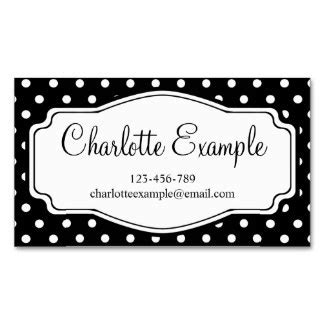 Templates For Credit Card Designs Polka Dots by Black And White Business Card Templates Personalized By U