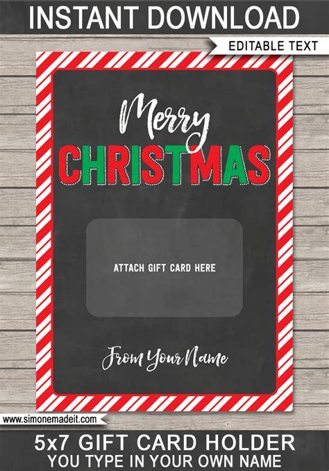 printable christmas gift card holder  minute christmas gift