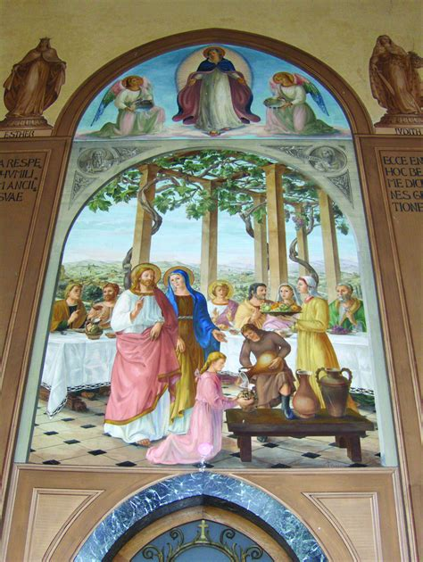 Wedding At Cana Discussion Questions wedding feast at cana church of the visitation at ein