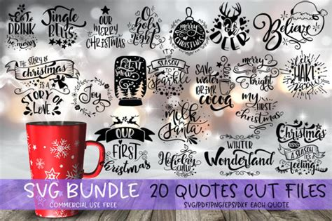 christmas quotes svg bundle graphic  svg story creative fabrica