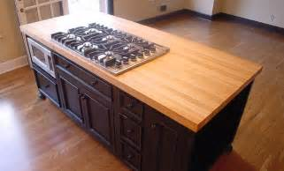 countertop for island maple wood kitchen island countertop by grothouse
