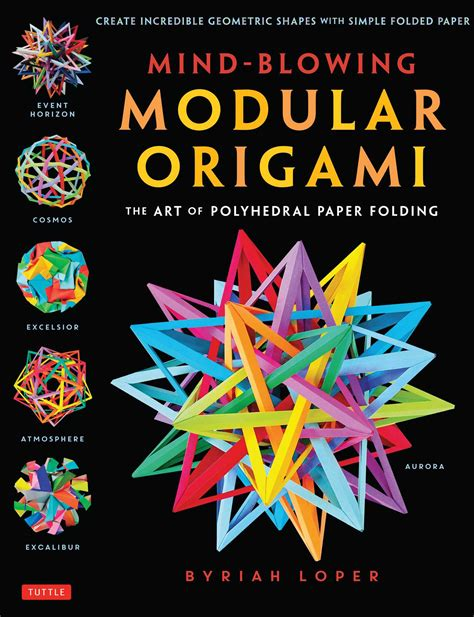 Modular Origami Book - mind blowing modular origami book by byriah loper