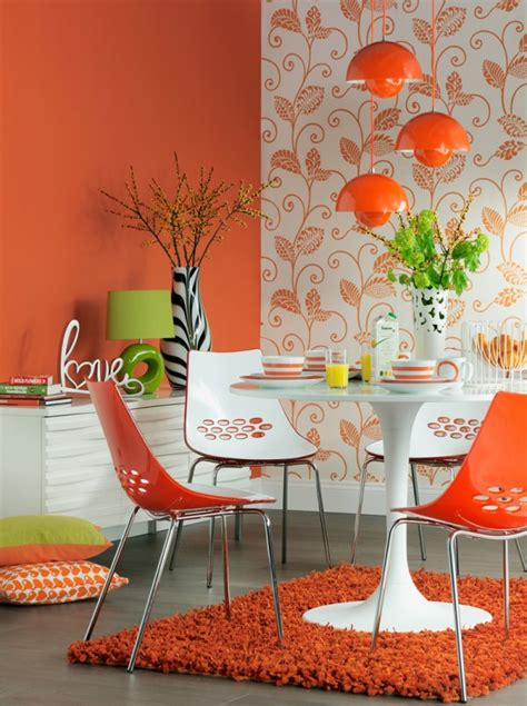 el naranja en la decoraci 243 n de interiores pintomicasa