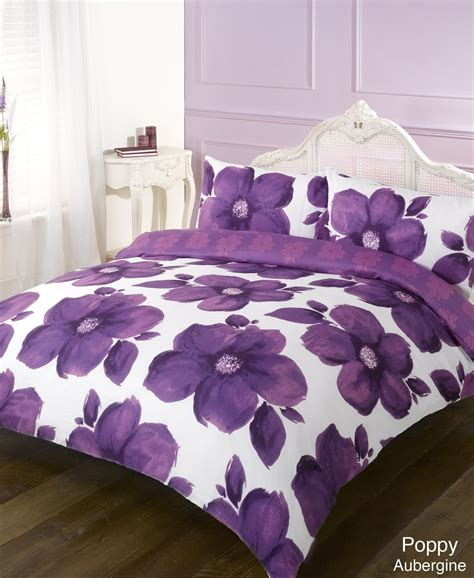 poppy bedding duvet quilt cover bedding set poppy all colours and