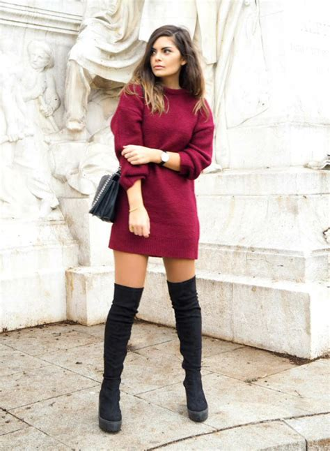 how to wear with boots how to wear the knee boots in fall daniel