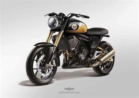 new and mahindra mojo rendered with inspiration from bsa motorcycles