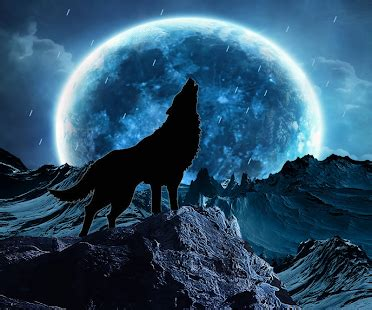 blue moon wolf live wallpaper apps on google play