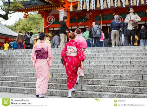 japan during new year in kimono dress editorial image image 48434970
