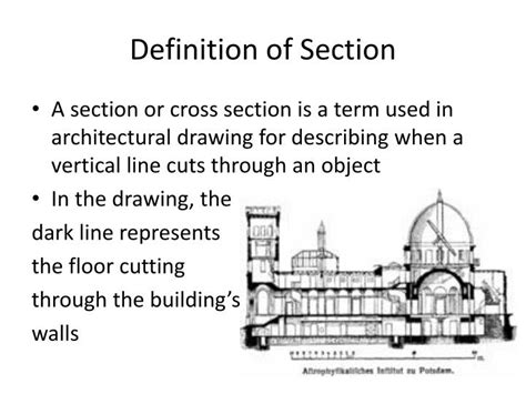 definition of section in architecture ppt common architecture terms powerpoint presentation