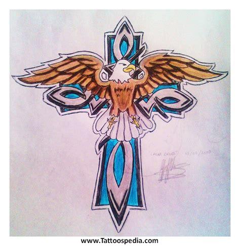 tattoo cross eagle cross eagle tattoos 3