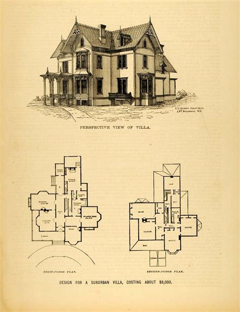 victorian house layout vintage victorian house plans 1878 print victorian villa