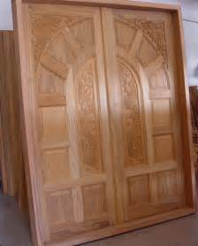 Wooden Door Designs by New Kerala Model Wooden Front Door Double Door Designs