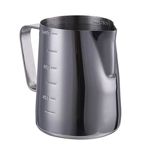 Stainless Steel Pitcher 350ml per 350ml stainless steel milk frothing pitcher with
