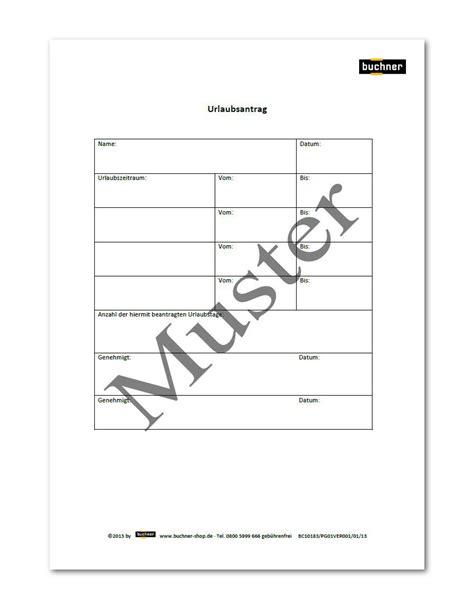 Urlaubsantrag Schreiben Muster Urlaubsantrag Praxisbedarf Shop Buchner