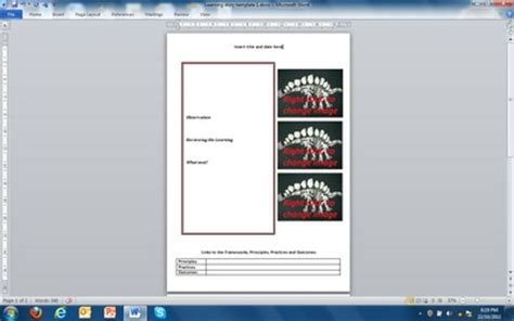 Emergent Curriculum Planning Template by Designing Early Childhood Australia Emergent Curriculum