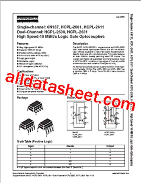 transistor e13007 datasheet pdf 6n137 datasheet pdf fairchild semiconductor