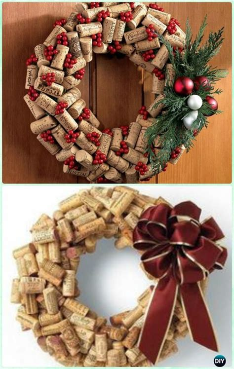 diy christmas wreath craft ideas instructions wine