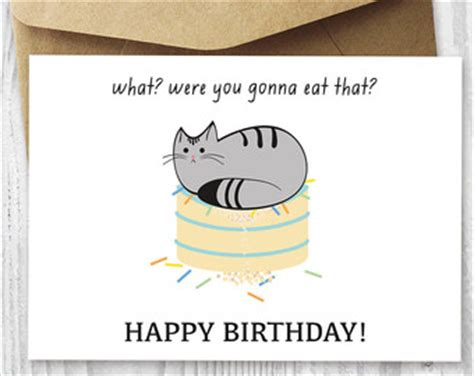 printable birthday cards with cats 40th birthday card printable birthday card funny cat