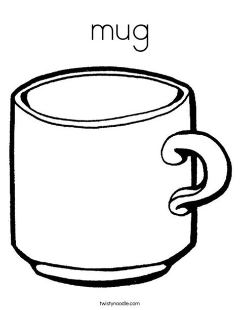 Mug Coloring Page Twisty Noodle Coffee Cup Coloring Pages