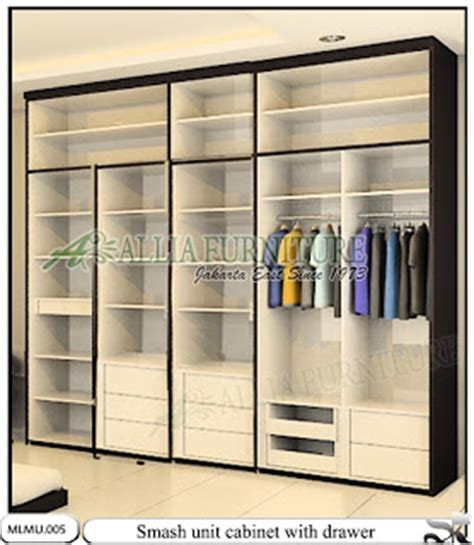 Lemari Pakaian Knockdown lemari baju kabinet unit minimalis smash allia furniture