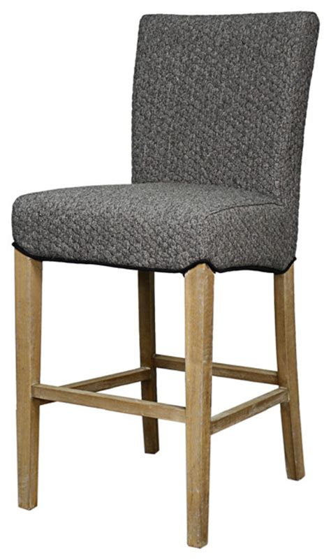 Fabric Counter Stools by Milton Fabric Counter Stool Gray Honeycomb Transitional