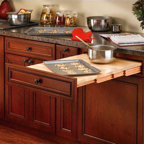 rev a shelf wood tambour table for kitchen or desk cabinet