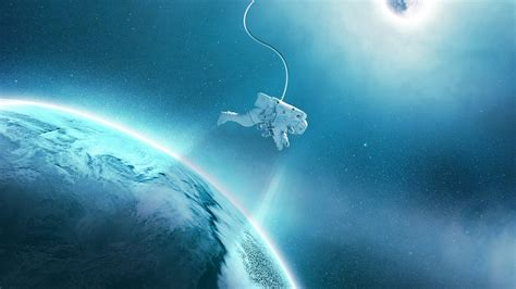wallpaper astronaut earth gravity planets  space