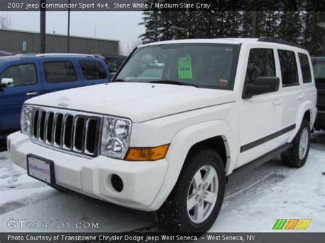 2007 Jeep Commander White White 2007 Jeep Commander Sport 4x4 Medium Slate