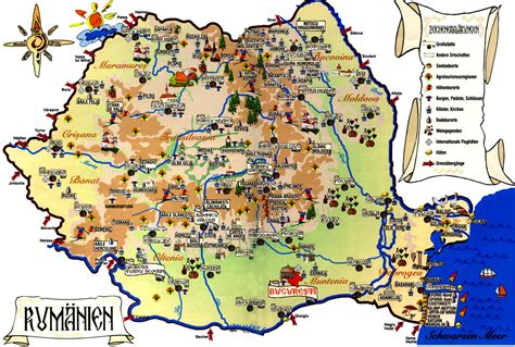 map of tourist romania tourist map romania mappery