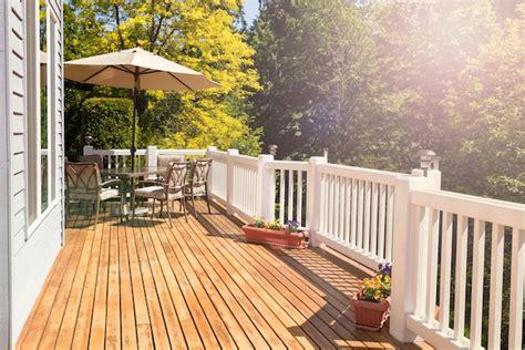 wood deck  cement patio zing blog  quicken loans