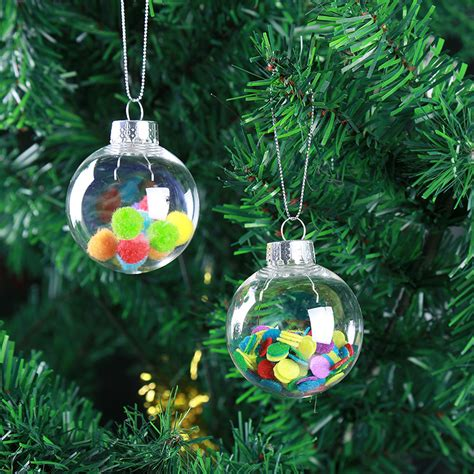 christmas 2017 clear diy baubles shatterproof seamless