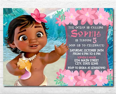 Baby Moana Invitation Template Free invitation moana invitation template free cybersilva