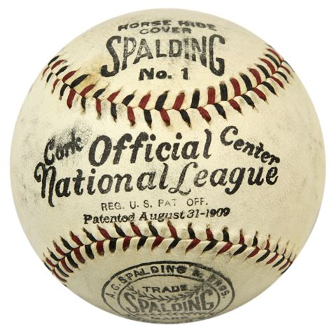League Original No Box lot detail 1917 official national league baseball