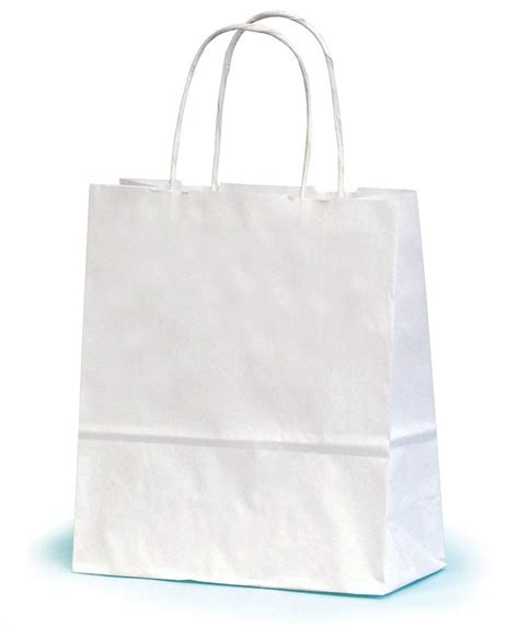 White Paper Craft Bags - small white paper gift bag with twisted handles 19 x 7 5 x