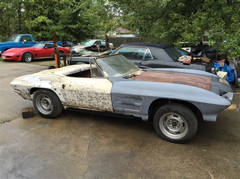 corvette f f s 1963 corvette conv quot roller quot great ls project car